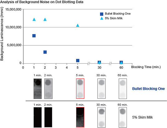 Analysis of Background Noise on Dot Blotting Data